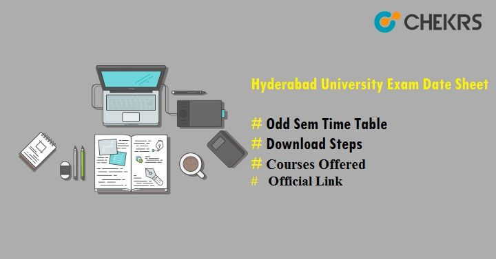 Hyderabad University Exam Date Sheet