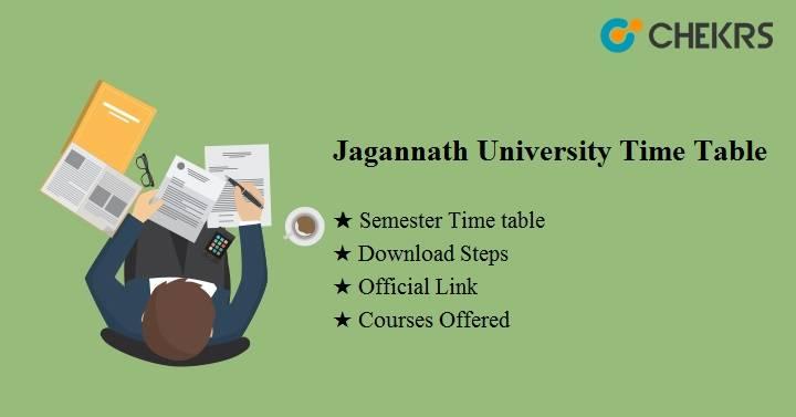 jagannath university time table