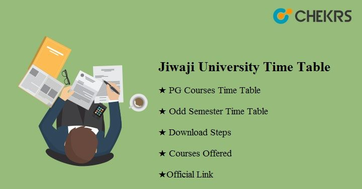 jiwaji university time table