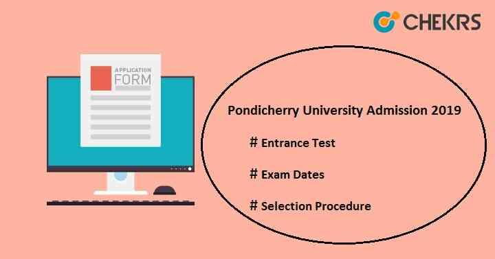 Pondicherry University Admission 2019