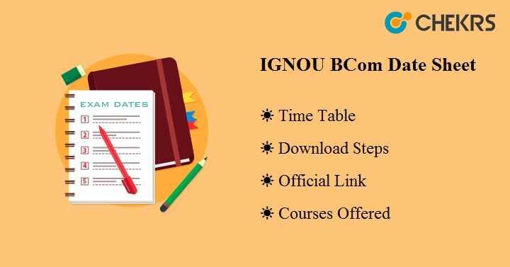 IGNOU BCom Date Sheet