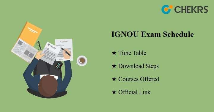 IGNOU Exam Schedule Dec