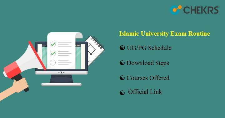 Islamic University Exam Routine