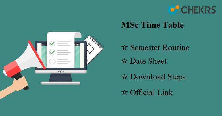 MSc Time Table 2018