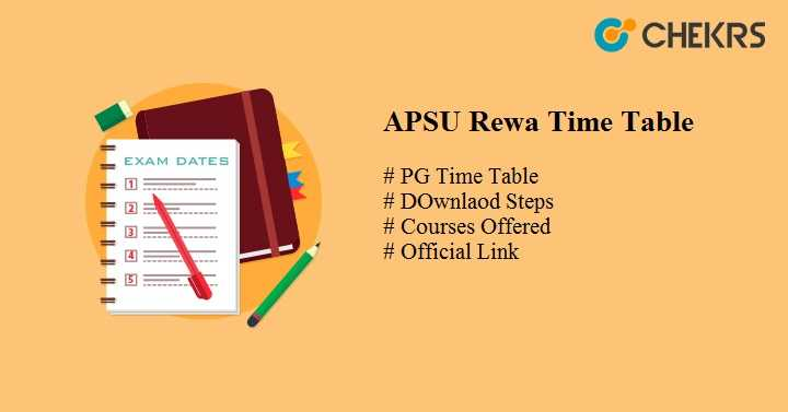 apsu rewa time table