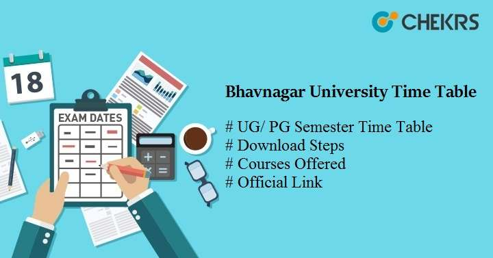 bhavnagar university time table
