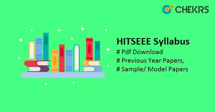 HITSEEE Syllabus Pdf Download, Previous Year Paper