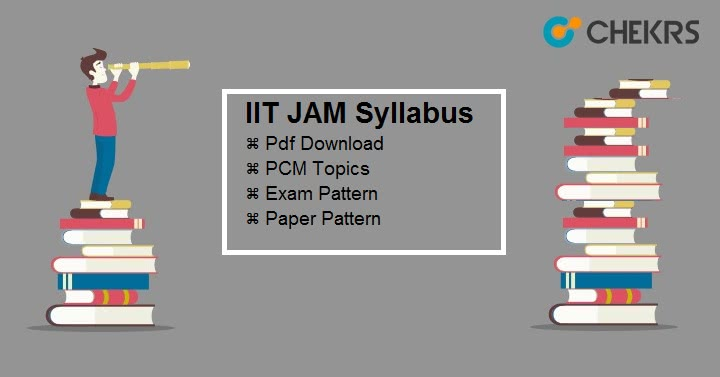 IIT JAM Syllabus Pdf Download