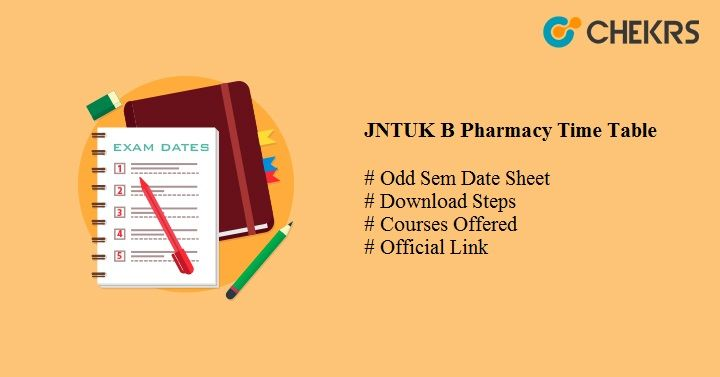 jntuk b pharmacy time table
