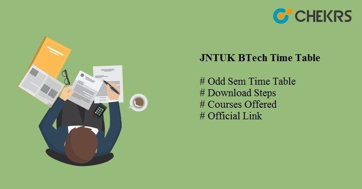 jntuk btech time table