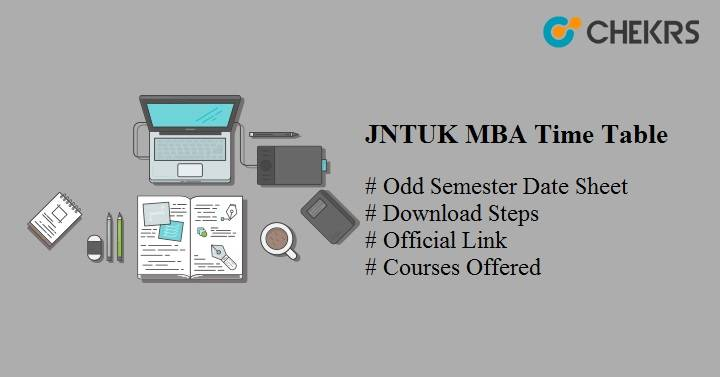 JNTUK MBA Time Table