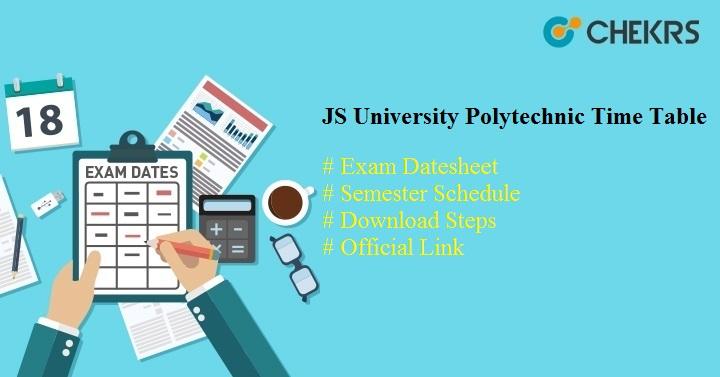 js university polytechnic time table