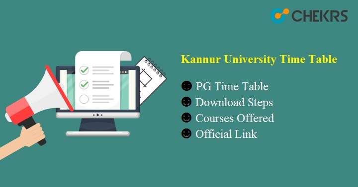 kannur university time table