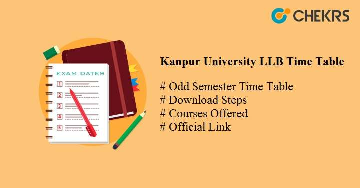 kanpur university llb time table