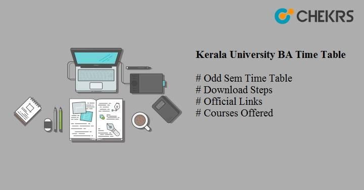 kerala university ba time table