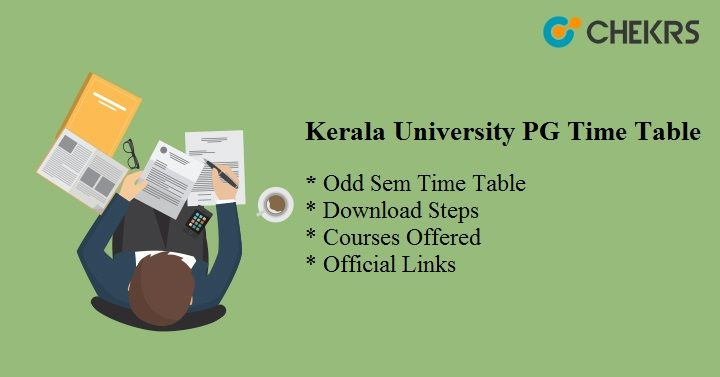 kerala university pg time table