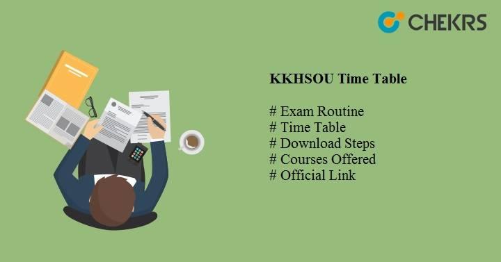 kkhsou time table