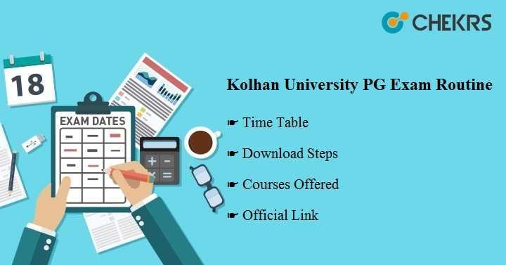 kolhan university pg exam routine