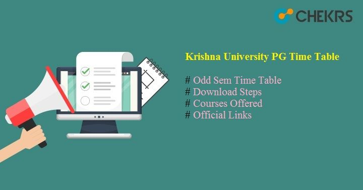 krishna university pg time table
