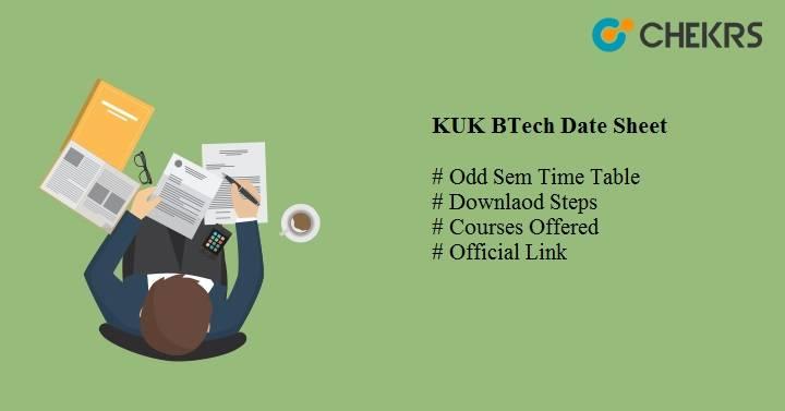 kuk btech date sheet