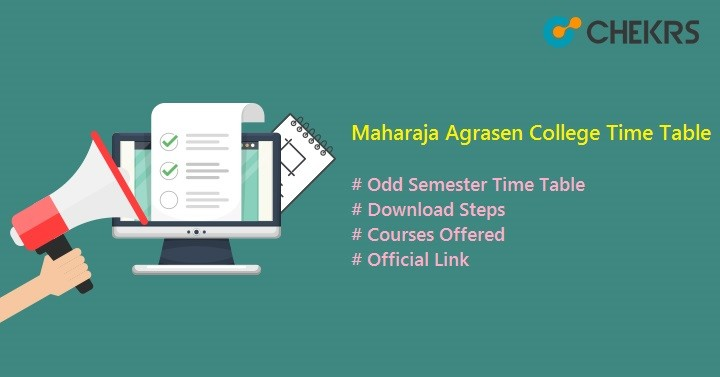 maharaja agrasen college time table
