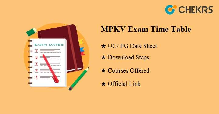 mpkv exam time table