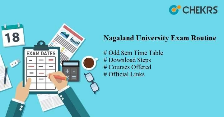 nagaland university exam routine