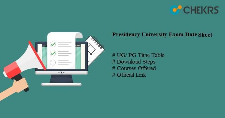 presidency university exam date sheet