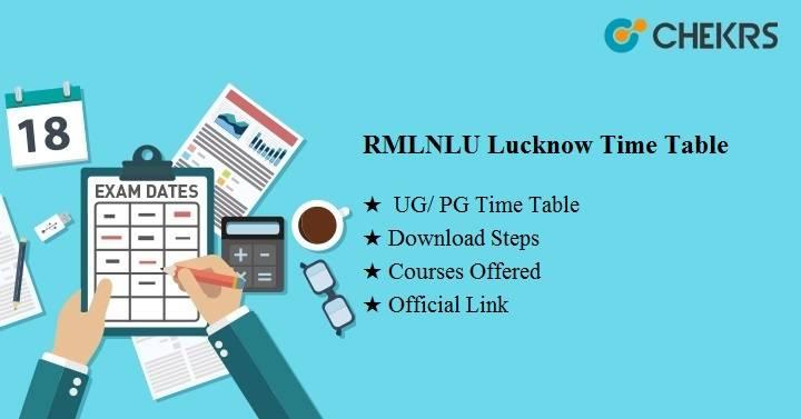 rmlnlu lucknow time table