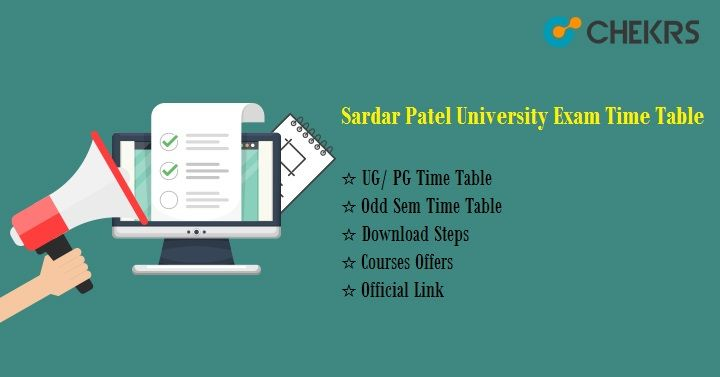 sardar patel university exam time table