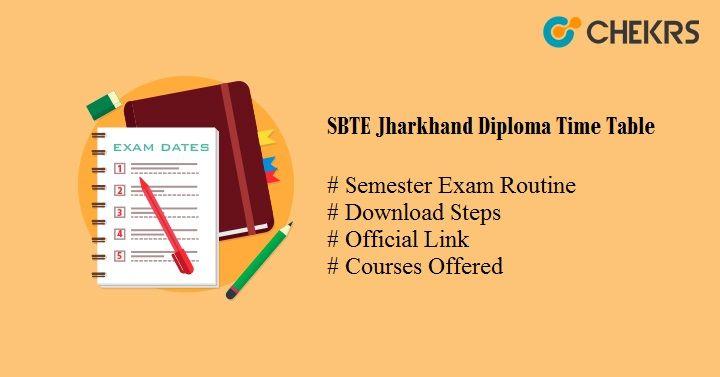 sbte jharkhand diploma time table