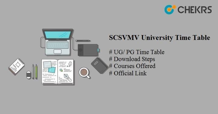 scsvmv university time table